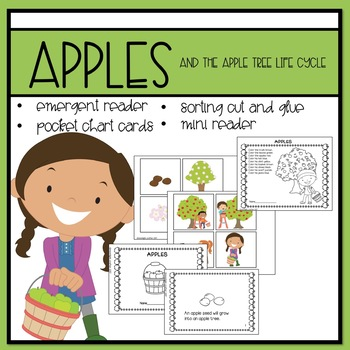Apples Emergent Reader and Mini Literacy Set