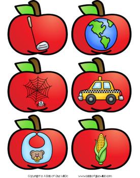 Apples Ending Sound Match-Up