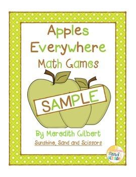 Apples Everywhere Math Games SAMPLE
