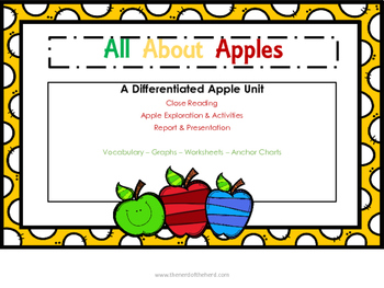 Apples Exploration: All About Apples - A Sensory Experience