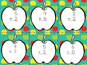 Apples FREEBIE - addition, subtraction, rhyming words