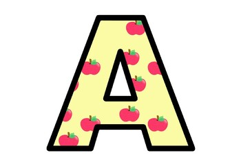 Apples, Fall, Autumn, Bulletin Board Letters, Decor, Apple Alphabet Posters