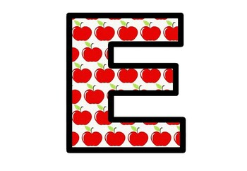 Apples, Fall, Bulletin Board Letters, Classroom Decor, Johny Appleseed Project