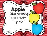 Apples File Folder Game:  Apple Color Matching