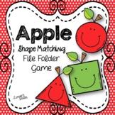 Apples File Folder Game:  Shape Matching