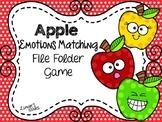 Apples File Folder Game: Emotions Matching
