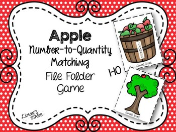 Apples File Folder Game: Number to Quantity 1-10