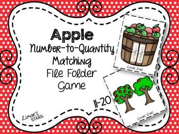 Apples File Folder Game: Number to Quantity 11-20