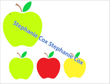 Apples File Folder Game Sorting by Size