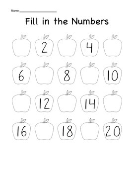 Apples - Fill in the Numbers