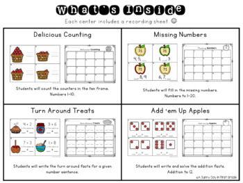 Apples Galore Math Centers!