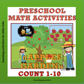 Apples Garden counting cards 1-10