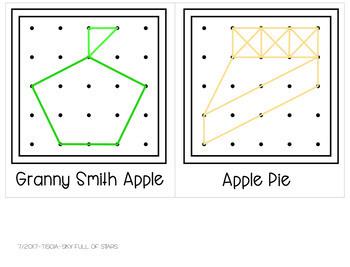 Apples Geoboard Task Cards