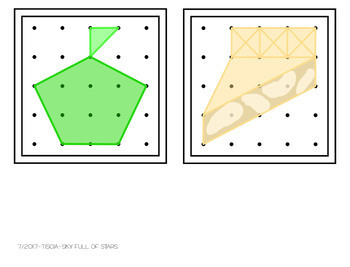 Apples Geoboard Task Cards