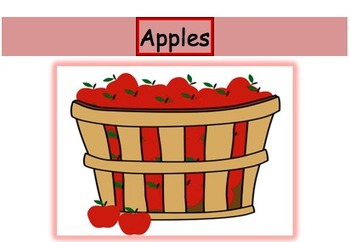 Apples - Grapes game - Short and long /a/ vowel discrimination word sort