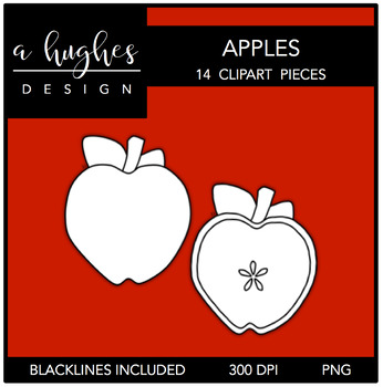 Apples Clipart {A Hughes Design}
