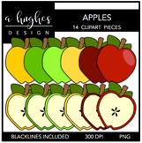 Apples Clipart {A Hughes Design}