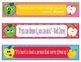 Apples Faces Growth Mindset Bookmarks Shelf Markers or Desk Name Plates-EDITABLE