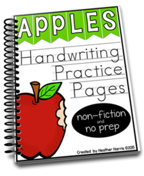 Apples: Handwriting Practice Pages