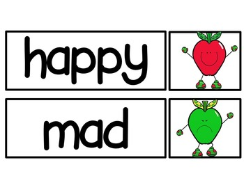 Apples Have Feelings Too! (pocketchart, booklet, graph, and writing prompt)