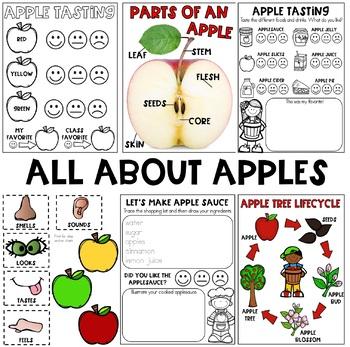 All About APPLES September Unit  {APPLE STEM, APPLE CENTERS, APPLE ART & More}
