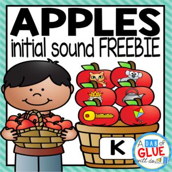 Apples Initial Sound Match-Up (FLASH FREEBIE)