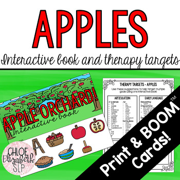 Apples Interactive Book and Therapy Targets!
