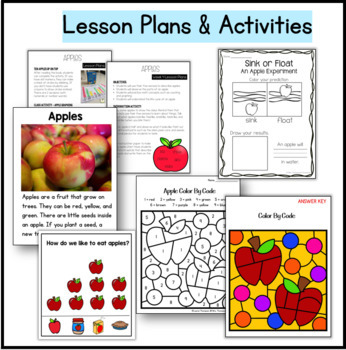 Apples Kindergarten Science NGSS