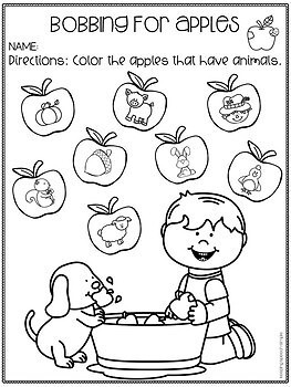 Apples Language Activities and Materials