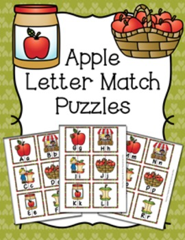 Apples Letter Match Puzzles
