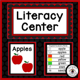 Apples Literacy Center with Printable Activities