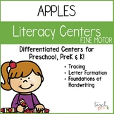 Apples Literacy Centers: Writing for Preschool, PreK, K & Homeschool