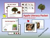 Apples Literacy Packet--great for Special Education/SLP collaboration