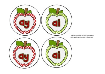 Apples - Long a: ai, ay and Other Literacy Activities