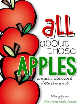 Apples Main Idea and Details Thematic Unit