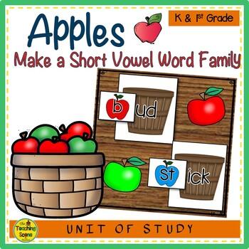 Apples Make A Short Vowel Word Family Center