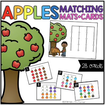 Apples Matching Mats and Activity Cards (Patterns, Colors, and Matching)