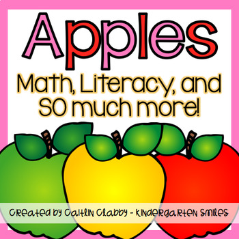 Apple Unit : Math, Literacy, and More!