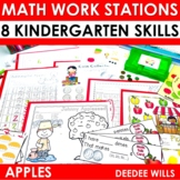 Kindergarten Math Centers ~ Apples