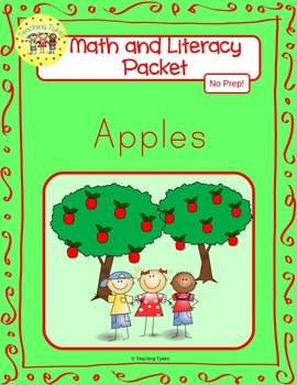Apples Worksheets Emergent Reader Task Cards