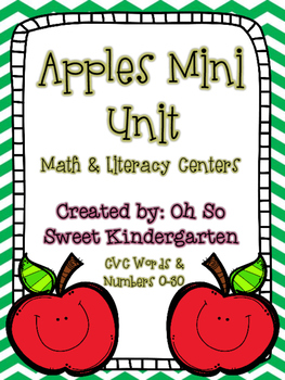 Apples Mini Unit Math & Literacy Centers