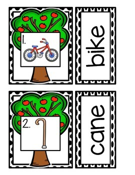 Apples: Mini Word Work for CVCE Words