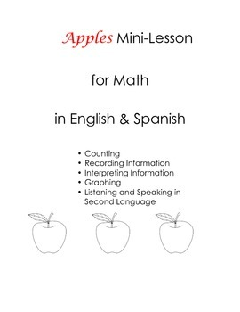 Apples MiniLesson English Spanish Counting Graphing Tallying Record Dual Lang