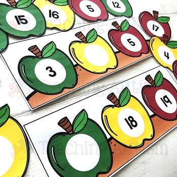 Apples Missing Number Task Cards