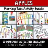 Apples Morning Tubs   Preschool and Kindergarten Activities