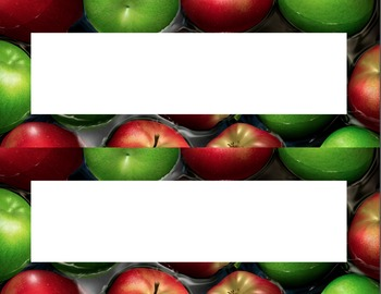 Apples Desk Name Tag Plates Set