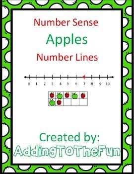 Apples Number Line Number Sense Worksheets