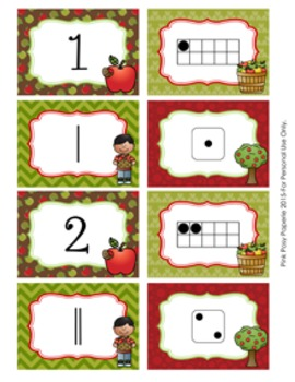 Apples Number Match Activity