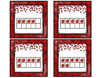 Apples Number Match Up Math Center