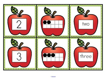 Apples Number Matching Cards 0-10  FREE